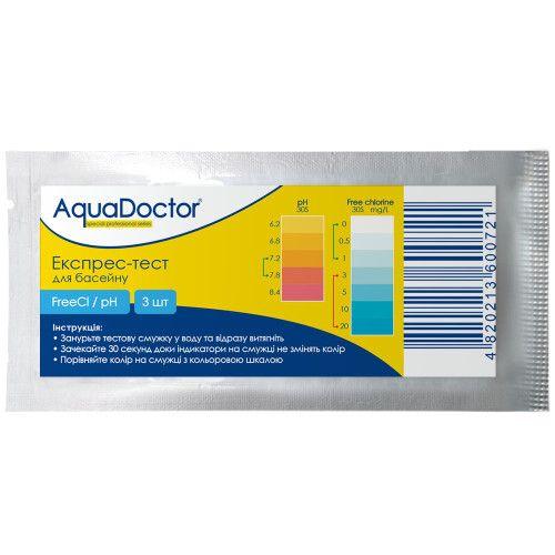 Тестовые-полоски Aquadoctor Cl/pH, 3 шт