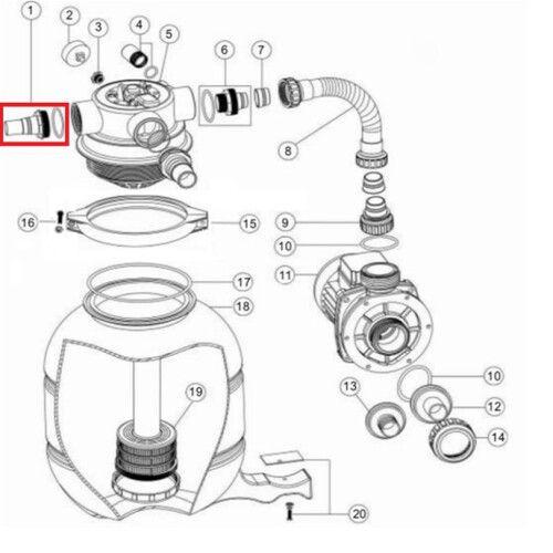 Муфта адаптер для FSP300\FSU (32х38 мм) Emaux