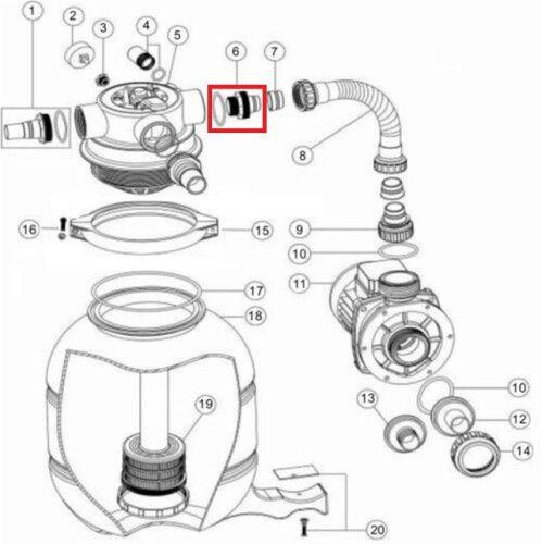 Адаптер для FSP с уплотнительным кольцом (89030204) Emaux