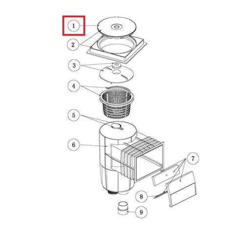 Крышка для скиммеров серии EM0130/EM0140/RO-7 Emaux