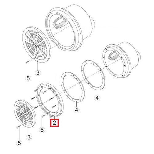 Фланец-кольцо донного слива SRPL Kripsol