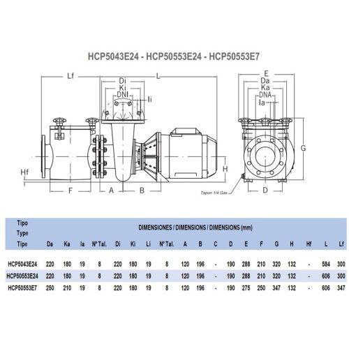 Насос центробежный Hayward HCP50753E7 (380В, 81 м3/ч, 7.5HP)