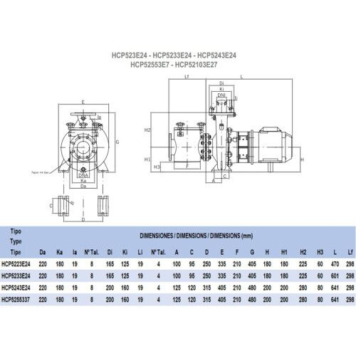 Насос HCP5233E24 (380В, 28 м3/ч) Hayward