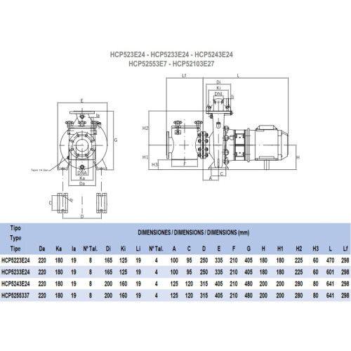 Насос HCP52553E7 (380В, 58 м3/ч) Hayward