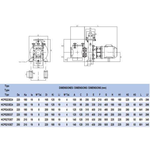 Насос центробежный Hayward HCP52103E7 (380В, 97 м3/ч, 10HP)