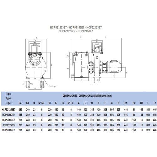 Насос центробежный Hayward HCP62153E7 (380В, 221 м3/ч, 15HP)