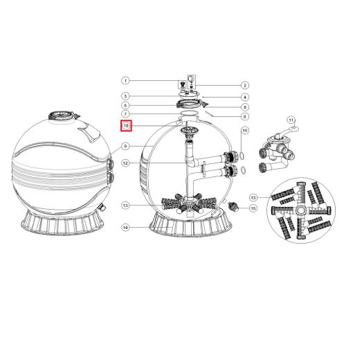 Диффузор для фильтров серии MFV27/31/35 (89012612) Emaux