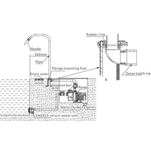 Массажный водопад Full Body Spray EM4402