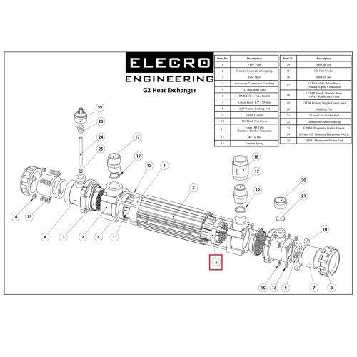 HNBR прокладка теплообменника G2 SP-HE-GSK Elecro