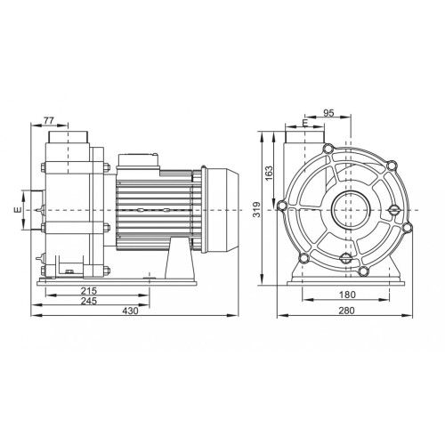 Насос центробежный Emaux AFS55 (380В, 90 м3/ч, 5.5HP)