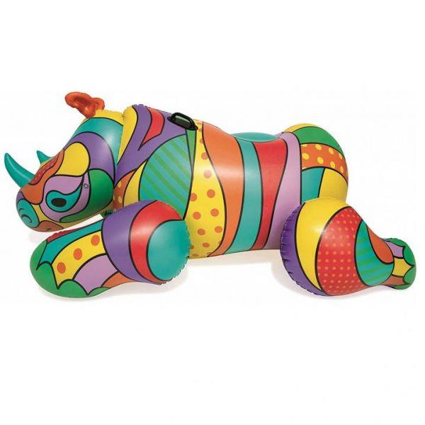 Круг для плавания 41116 Поп-арт носорог (201х102 см)