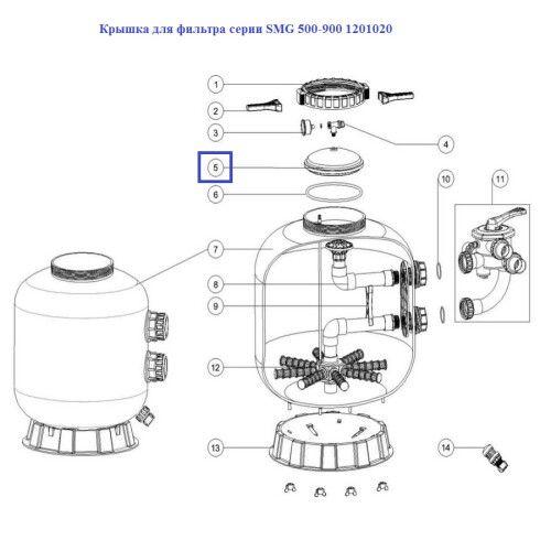 Крышка для фильтра серии SMG 500-900 1201020 Emaux