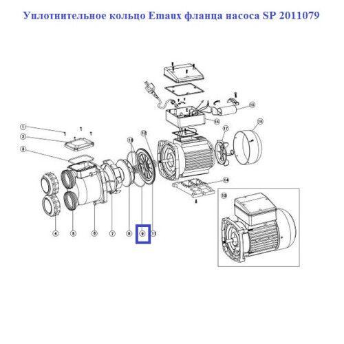 Уплотнительное кольцо Emaux фланца насоса SP