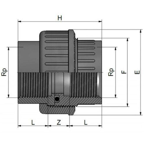 Муфта разборная с внутренней резьбой (РВ-РВ) Effast