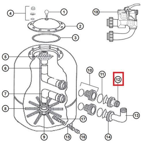 Муфта NCX2312061 для фильтров серии NC (D 780-900) Hayward