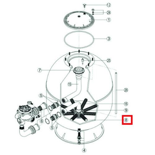 Сепаратор для фильтра S360SLE (RRFI0008.03R\500201150000) Hayward PRO