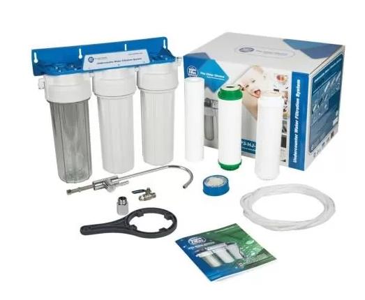 Трехступенчатая система фильтрации под кухонную мойку Aquafilter FP3-K1 по смягчению и обезжелезивания