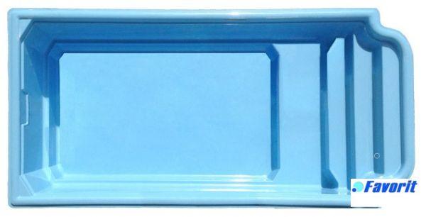 """Стекловолоконный бассейн """"Атлантида"""" 5,85x2,9м Favorit"""