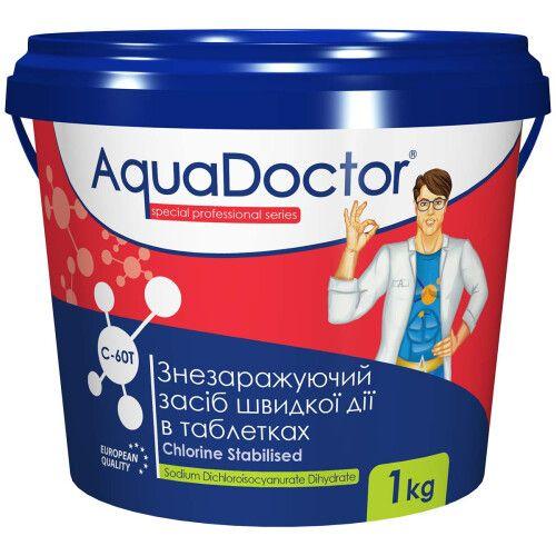 Шоковый хлорный дезинфектант в таблетках AquaDoctor C60-T