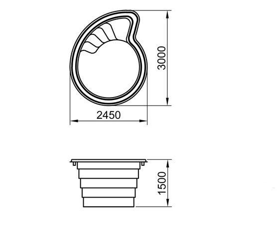 """Стекловолоконный бассейн """"Лотос-1"""" 3х2,45м Favorit"""
