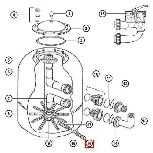 Дренажный клапан Hayward NCX12011