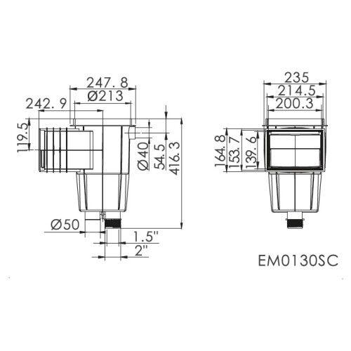 Скиммер под бетон Emaux EM0130-SC Standart