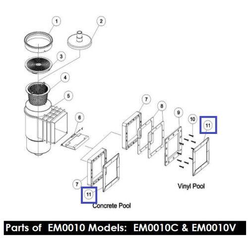 Лицевая рамка скиммера Standard EM0010 Emaux