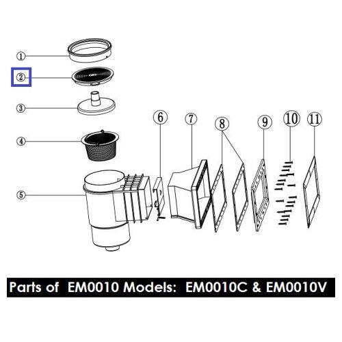 Крышка для скиммеров серии EM0010/0020 Emaux