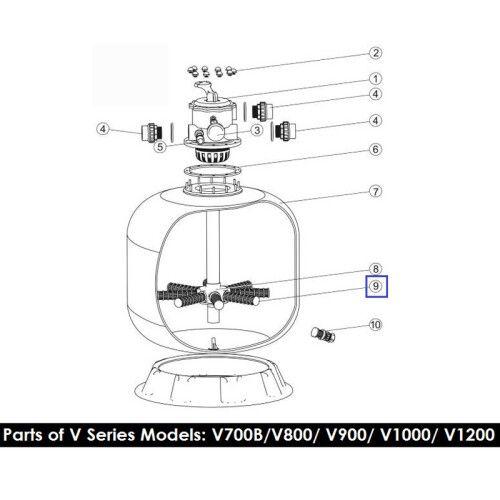 Сепаратор фильтра Emaux V800-V900, S800-S900, L1800-2000 (233мм)
