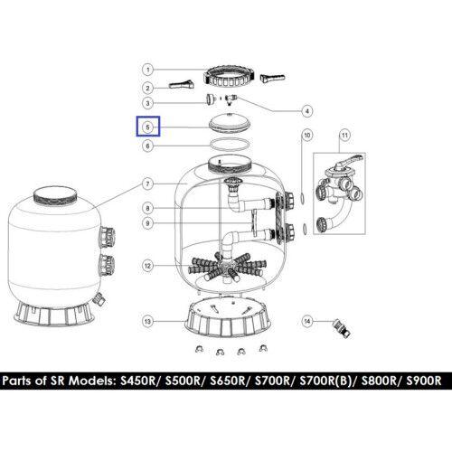 Крышка для фильтра серии RInglock S800-900R Emaux