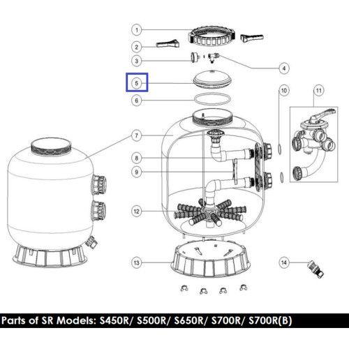 Крышка для фильтра серии 65-90 KOK