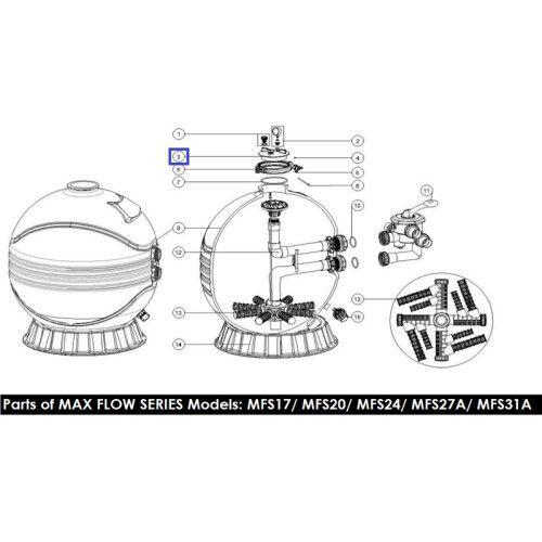 Крышка для фильтра Emaux MFS/SP 01201022
