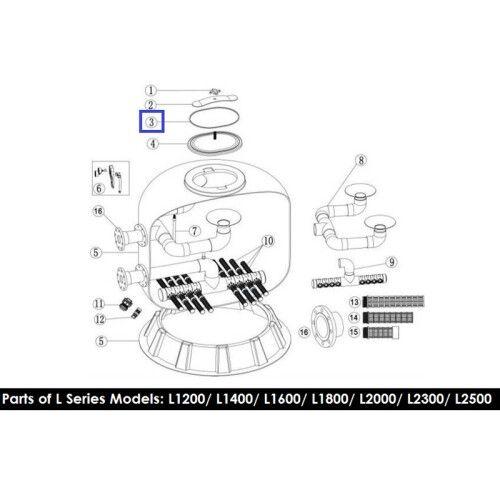 Резиновая прокладка для крышки фильтра серии L1200-1800 Emaux