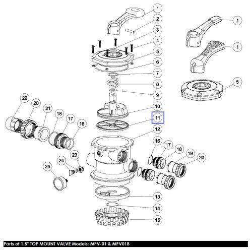 Прокладка Паук 6-ходового крана MPV01\MPV03 (02311002) Emaux
