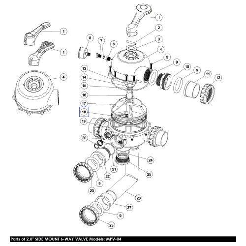 """Прокладка Паук для 6-ходового крана MPV02\MPV04 (02311003) 2"""" Emaux"""