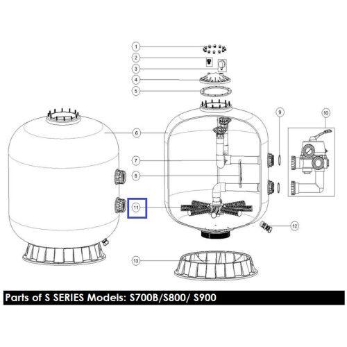 Сепаратор фильтра Emaux V700B, S700B, L1800-2000 (185мм)