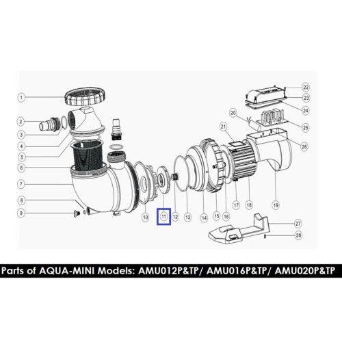 Крыльчатка для насоса AMU012TP/16TP/AMU012P/16P Emaux