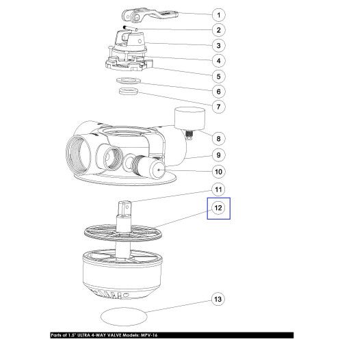 Прокладка Паук для 4х ходового крана MPV16 2311010 Emaux