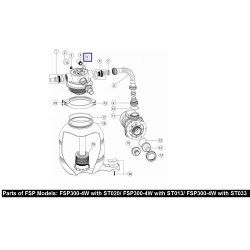 Кран шестиходовой Emaux 1,5'' MPV07 (88281505B)