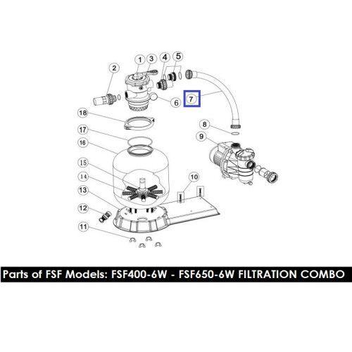 Шланг подключения фильт-насос с муфтами ф/у FSF500 89032301 Emaux