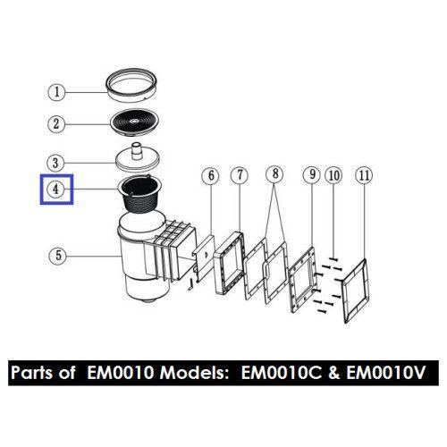 Корзинка с ручкой для скиммеров Standard EM0010/0020 Emaux