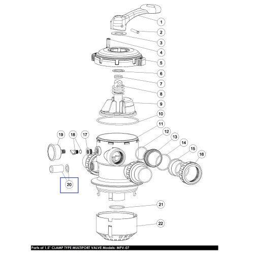 Колпачок контроля степени загрязненности воды вентиля Sight Glass with O-Ring Emaux