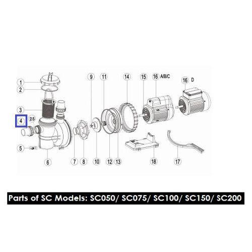 Муфта накидная для насосов серии SC, SS, ST, SD Emaux