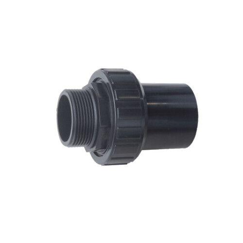 Муфта ПВХ Emaux для фильтров, разборная с наружной резьбой