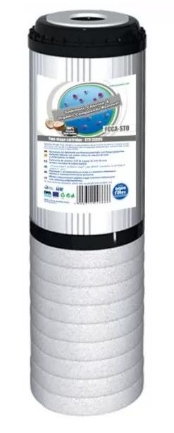 """Картридж двухступенчатой очистки с гранулами активированного угля и вспененным полипропиленом Aquafilter FCCA-STO - 9 7/8"""" x 2 1/2"""""""
