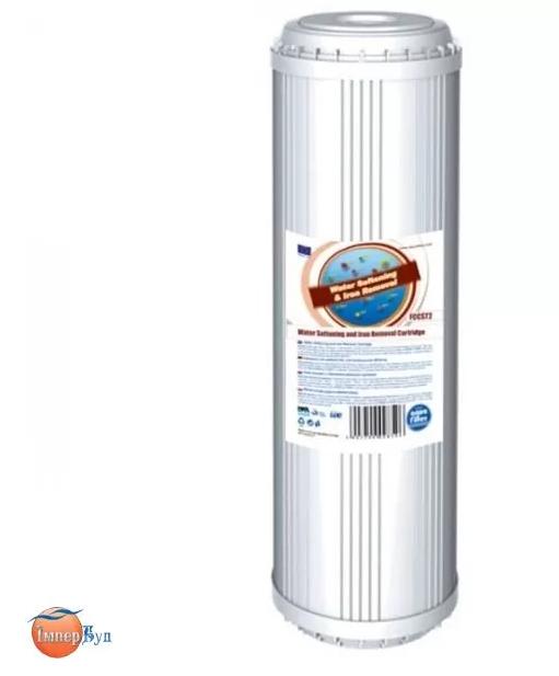 """Картридж двухступенчатой очистки для умягчения и обезжелезивания воды Aquafilter FCCST2 - 9 7/8"""" x 2 1/2"""""""