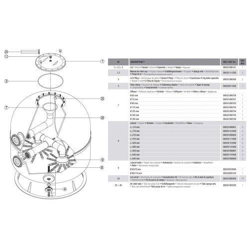 Фильтрационая бочка Hayward HCFA871602LVA ARTIC AK40-2200.B (152 м3/ч, D2200)