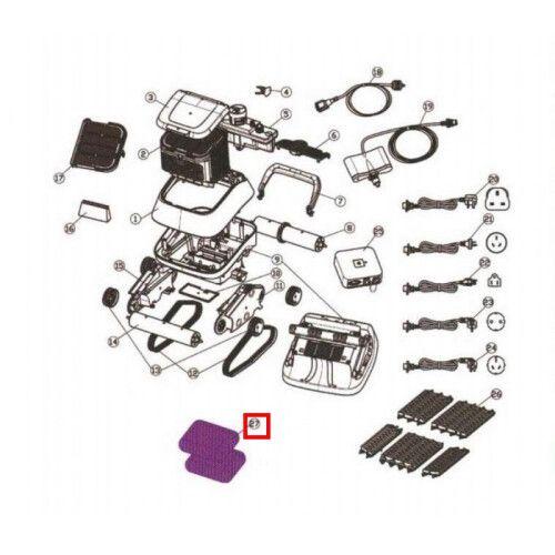 Фильтр мелких частиц для пылесоса Black Pearl 7310 1 шт Aquaviva