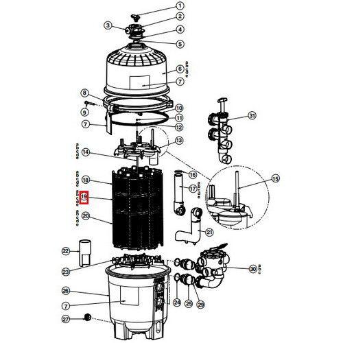 Фильтрующий элемент (DEX2400DA)