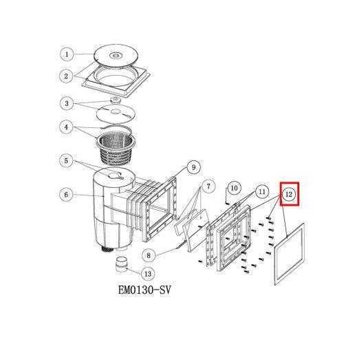 Шторка для скиммера серии EM0130/EM0140 Emaux